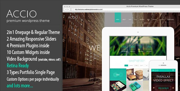 Accio 1.4.2 NULLED WordPress Theme
