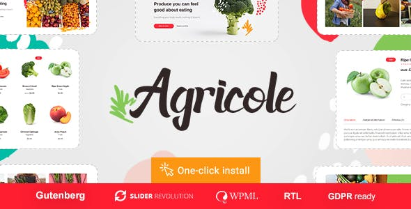 Agricole 1.0.4 NULLED WordPress Theme
