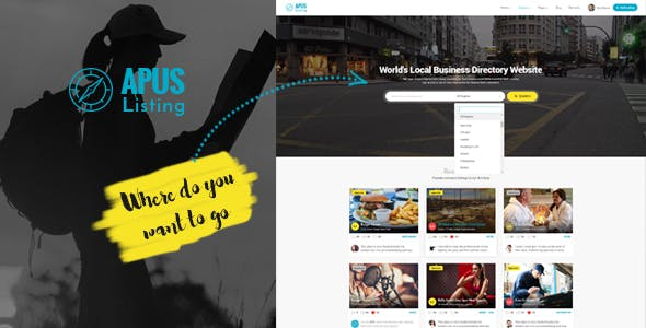 ApusListing 1.2.3.7 NULLED WordPress Theme