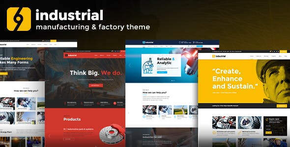 Industrial 1.0 NULLED WordPress Theme
