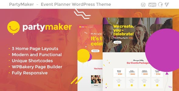 PartyMaker 1.1.3 NULLED WordPress Theme