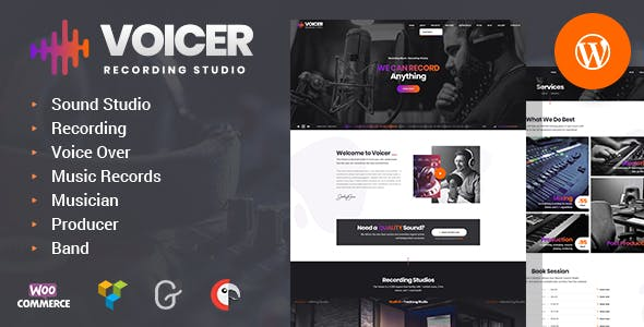 Voicer 1.0 NULLED WordPress Theme