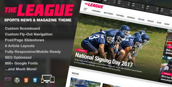 The League 4.2.1 NULLED WordPress Theme
