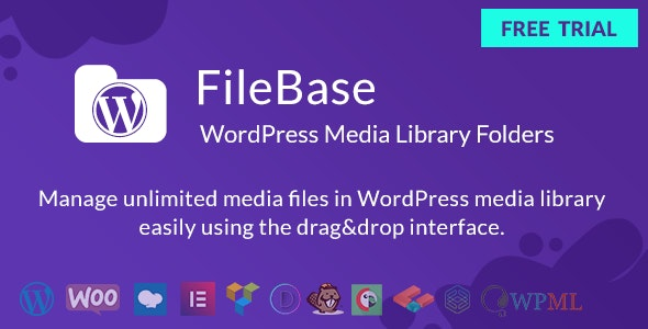 FileBase v1.4.2 - Ultimate Media Library Folders for WordPress