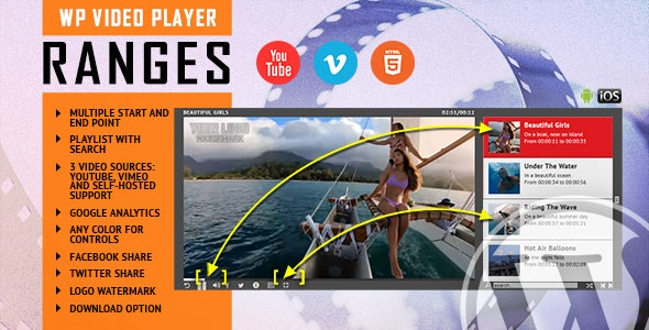 RANGES v1.1 - Video Player With Multiple Start and End Points - WordPress Plugin
