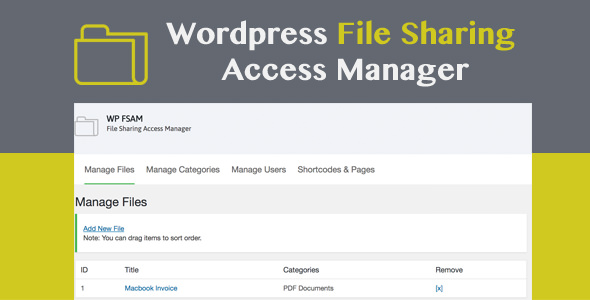 WP FSAM v1.2 – File Sharing Access Manager